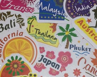 laptop sticker trippy sticker sticker flake sticker pack Vinyl Laptop Decal Sticker Hawaii Japan India