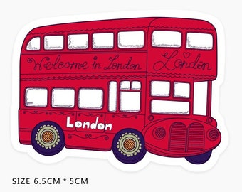 Stickers LONDON BUS Double Decker Skateboard Stickers Laptop Decal Vinyl Stickers