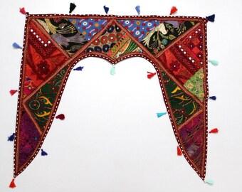 Handmade Window Door Valance Interior Decor Ethnic Gypsy Hippy Hippie Toran Pelmet Topper Drapery Top Hanging Tent Bohemian Art L794