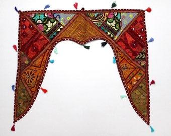 Handmade Window Door Valance Interior Decor Ethnic Gypsy Hippy Hippie Toran Pelmet Topper Drapery Top Hanging Tent Bohemian Art L801