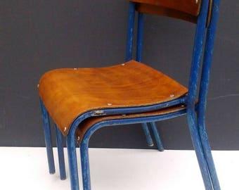 Single, Vintage School Chair, Stacking Chair, Wood & Metal Chair, Children's Chair, Desk Chair