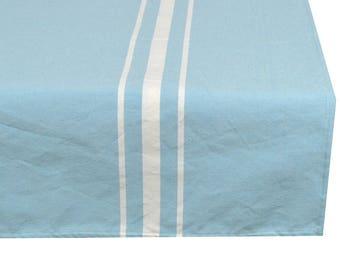 Square tablecloth fabric 150X150cm pastel blue