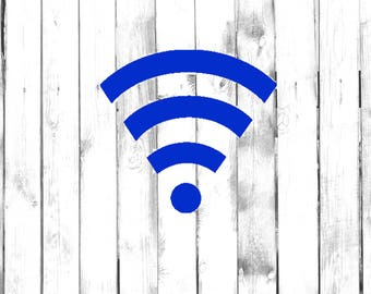 Wifi Sign - Car/Truck/Phone/Computer/Home/Store/Laptop/Business/Library Decal