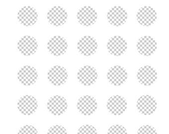 Digital Template for creating sheet of 1 inch round images for 1.313 button machine. 1616