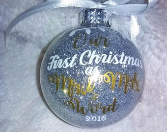 Mr. And Mrs. Christmas Ornament, First Married Christmas
