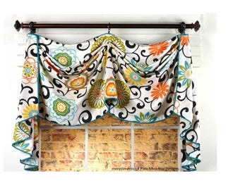 Custom Window Valance -Catherine Valance (your fabrics, my linings)