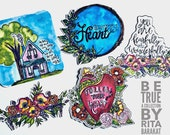 Be True, a die cut collection, planners, stationery, scripture, art journal