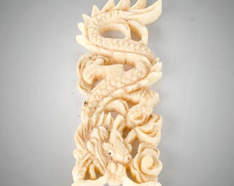 carved dragon pendant very detailed