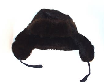 Soviet fur hat trapper hats furry warm and cozy Russian winter soft fluffy Russian Ushanka military bohemian brown boho fur shaggy