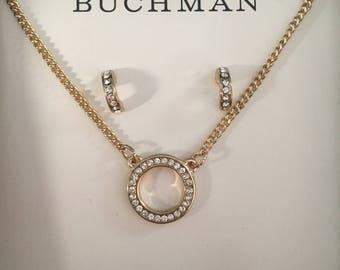Dana Buchman Swarovski Crystal Earring and Necklace Set