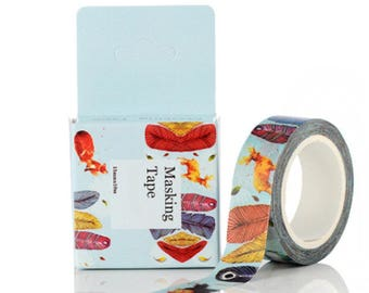 Forest 10 m - Washi tape masking tape, adhesive with soft patterns