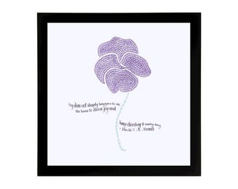 Daffodil Art Print with Quote