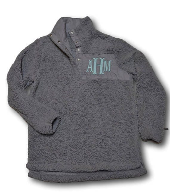 Monogrammed Sherpa Pullover Sherpa Pullover Women's