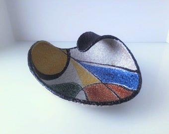 Ceramic Ashtray, by Ruscha Keramik, West Germany