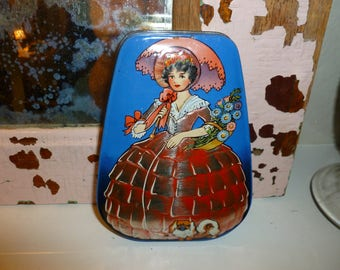 Sweet Vintage Dainty Dinah Toffee Tin George W. Horner & Co England 1930's-1940's