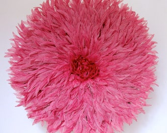Juju Hat - Feather Headdress -  Cherry Pink Feathers Size 78 cm/30.5 inches