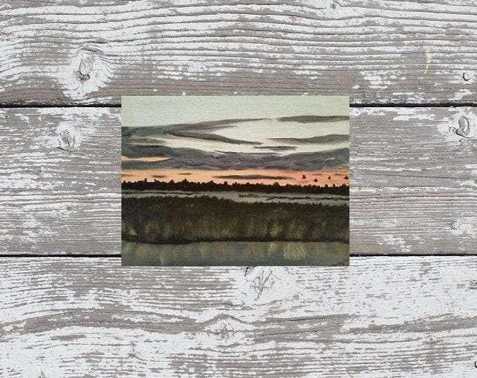 Marsh At Dusk- Oil Painting -  ready to ship!