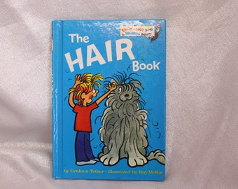 Vintage Children's Book - The Hair Book - 1979 A Bright and Early Book