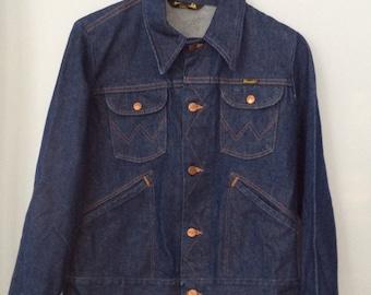 1970s Wrangler Jean Jacket Dark Wash Denim