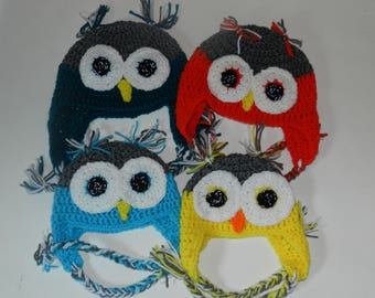 Owl Hats Baby, Toddler, Child, Teen, Adult  Made to Order V5659