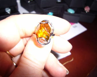 Amber ring size adjustable aluminum inalterable
