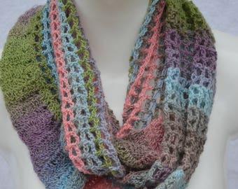Loop scarf scarf Loop scarf summer loop colorful pastel crocheted