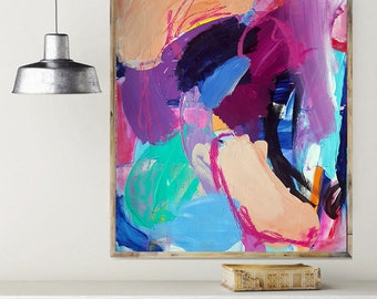 Abstract Wall Art, Wall Art, 18x24, Modern Wall Art, Abstract Painting, Modern Painting, Original Painting, Purple Art, Large Wall Art