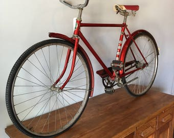 Vintage 1940's-50's cherry red Mens Hercules bicycle