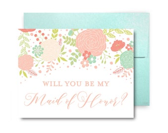 Bridesmaid Cards, Will You Be My Bridesmaid Card, Ask Bridesmaid, Bridesmaid Maid of Honor Gift, Matron of Honor, Bridal Party Cards #CL201