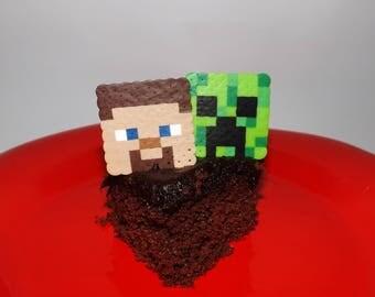 Minecraft | Minecraft Party | Birthday | Minecraft Toppers | Cake Toppers | Cupcake Toppers | Creeper