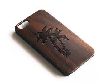 iPhone X Case, iPhone 8 Case, iPhone 8 Plus Case, iPhone 7 Plus Case, Tropical iPhone Case, Palm Tree iPhone 6 Case, Wood iPhone 7 Case