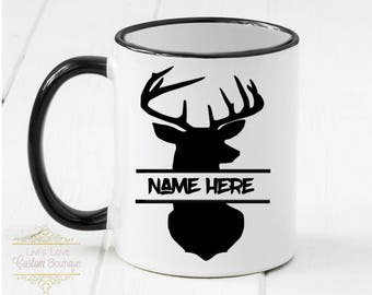 Hunter Mug - Personalized Mugs - Personalized Hunting Gift - Deer Hunter - Buck Hunter - Bow Hunter - Gift for Him - Dad - Grandpa - Brother