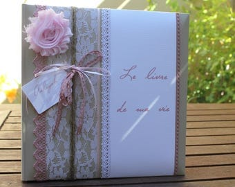 Book of baby pastel pink and dusty pink