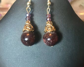 Red Phantom Quartz Earrings