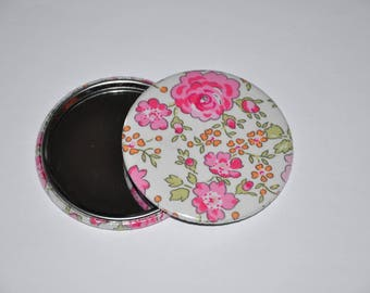 Mirror 59 mm fabric liberty of London Felicite pink 11