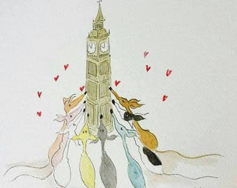 Love London - Available as A4 print or A5/A6 card