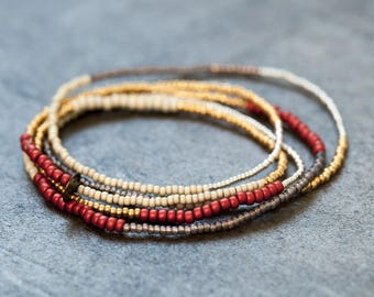 Seed bead bracelet/necklace.