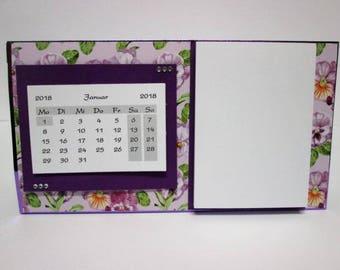 Calendar 2018, table calendar 2018 + Notepad