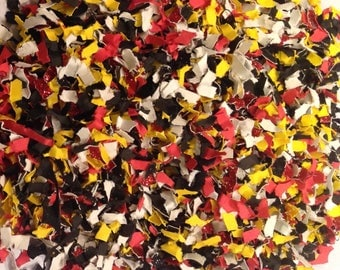 Red, black and Yellow glitter Confetti, Paper Confetti, Birthday Confetti, Graduation, Party Decorations, Shower, Birthday Parties, PGC0010