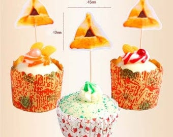 12pcs pie Cupcake Toppers