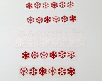Lot 40 snowflakes heat-sealed for textiles