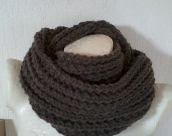 double wrap scarf, snood, neck wool and acrylic