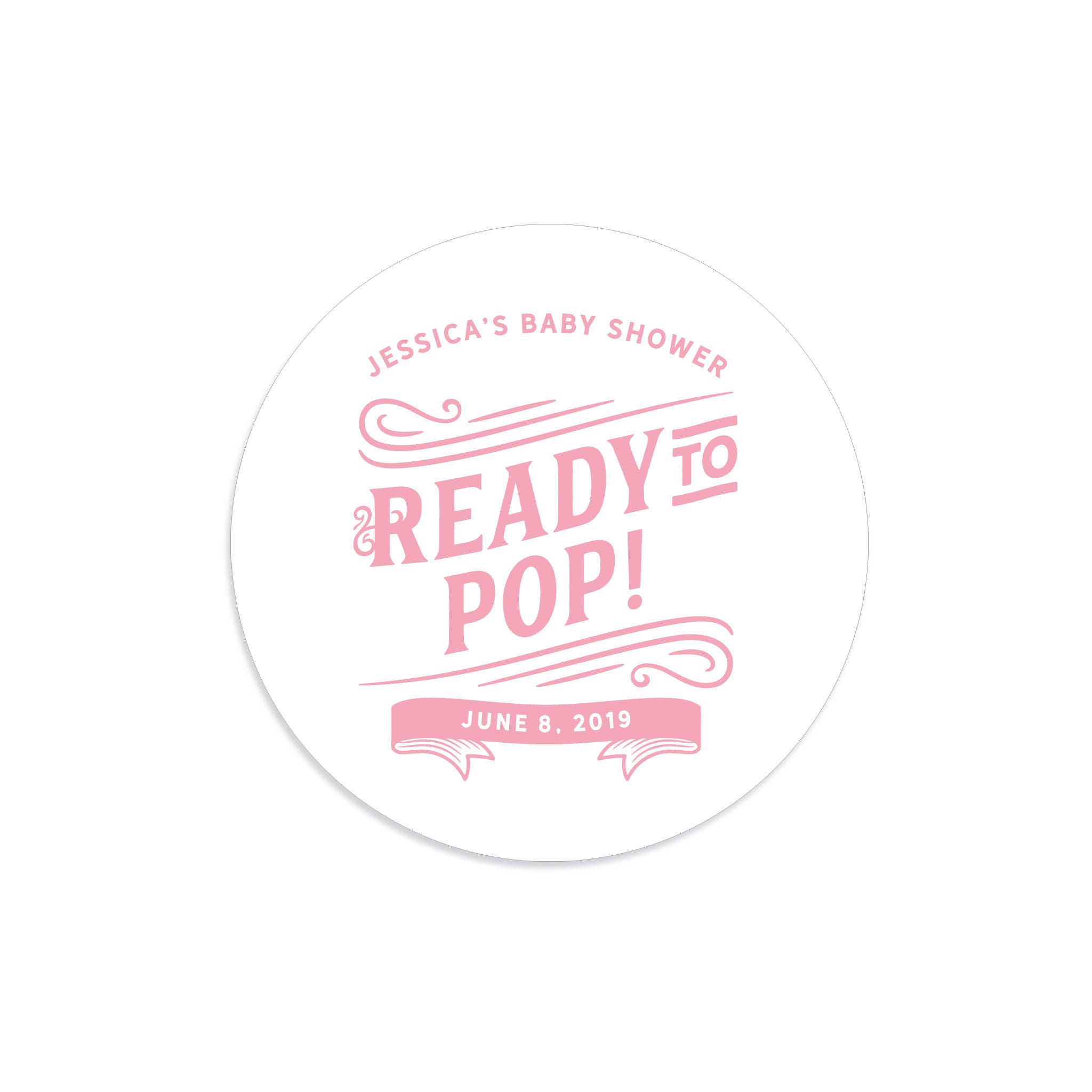 Ready to pop stickers ready to pop labels ready to pop baby for Ready to pop popcorn labels