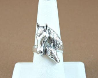 33% Off Christmas in July Size 8 Sterling Silver Mare And Colt Ring (9.3 grams)
