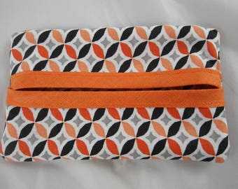 Pochette029 - Cover / case with orange and black handkerchiefs