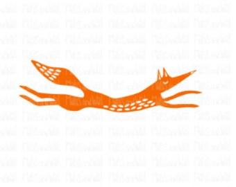 Fox svg/png/dxf cricut/silhouette cutting file/woodland svg/leaping fox svg/animal svg/folk art fox/running fox/quirky fox svg/fox png/HTV