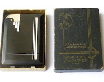 Vintage 'Magic Case' Semi-Automatic Petrol Lighter/Cigarette Case