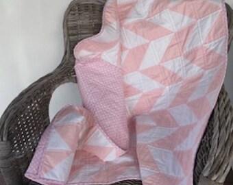Baby Quilt, Modern Baby Quilt, Herringbone Quilt, Toddler Quilt, Baby Shower, Baby Gift