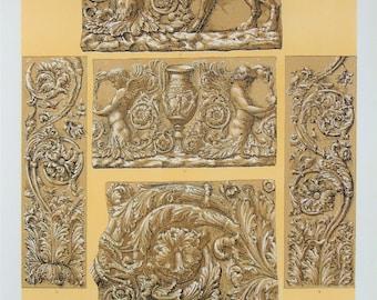 Owen Jones - The Grammar of Ornament - Stunning 1800s Lithograph - Rome Roman Art (P26)