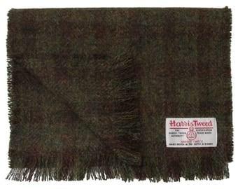 Harris Tweed Crofters Check Luxury Pure Wool Neck Scarf